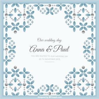 Cute symmetric wedding invitation