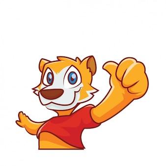 Cute tiger design