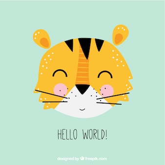 Cute tiger illustration