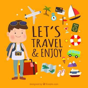 Cute travel background