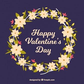 Cute valentine floral wreath