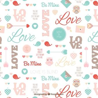 Cute valentine pattern