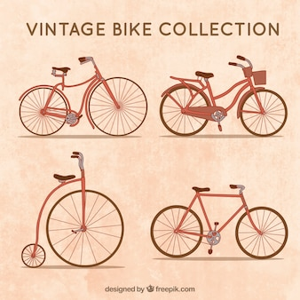 Cute variety of vitnage bicycles