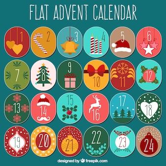 Vintage flat fold advent calendar