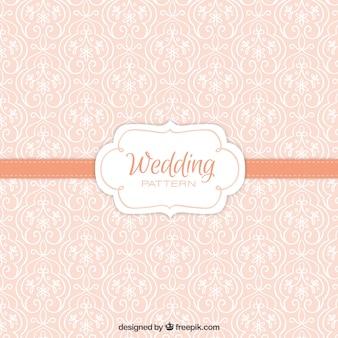Cute vintage floral wedding pattern