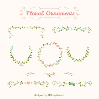 Cute vintage flower ornaments