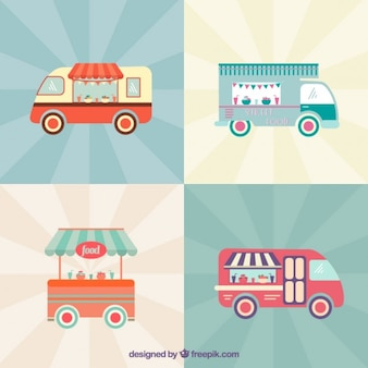 Cute vintage food trucks