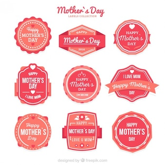 Cute vintage mother's day label collection