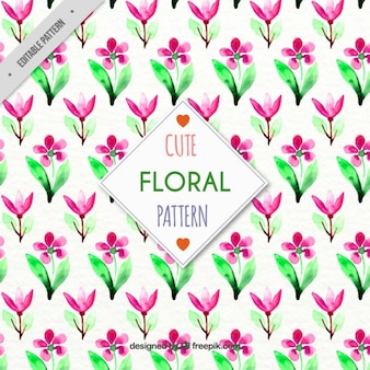Cute watercolor floral pattern