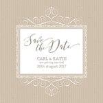 Cute wedding invitation with elegant ornaments