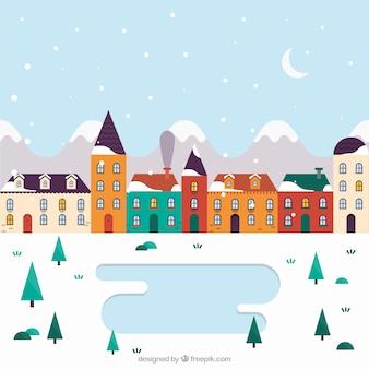 Cute winter village