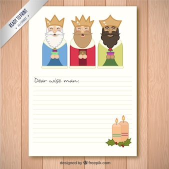 Cute wise men letter