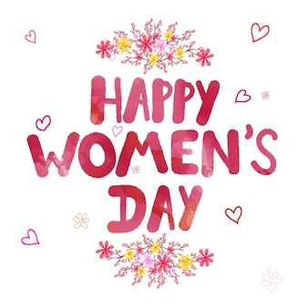 Cute women's day background with decorative flowers