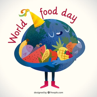 Cute world food day background