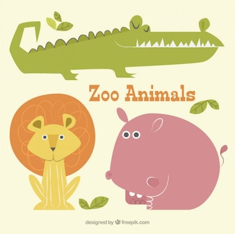 Cute zoo animal collection
