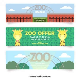 Cute zoo offer banners