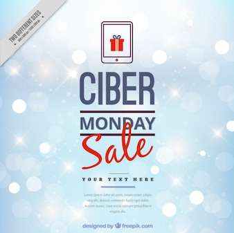 Cyber monday background with bokeh effect