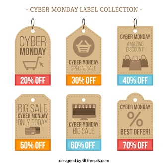 Cyber monday price tag concept