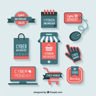 Cyber monday shopping labels