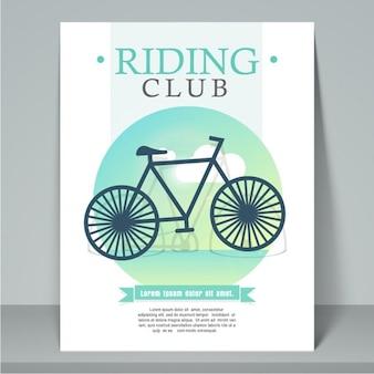 サイクリングクラブのパンフレットテンプレート