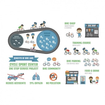 Cycling infographic template