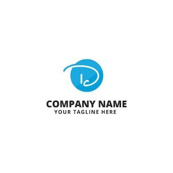 D letter logo template
