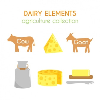Dairy elements collection