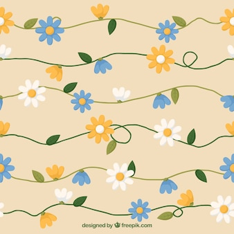 Daisies spring pattern