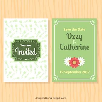 Daisies wedding invitation