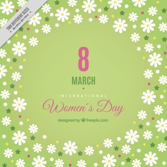 Daisies women's day background
