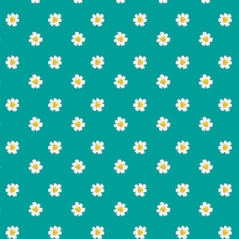 Daisy pattern on blue background