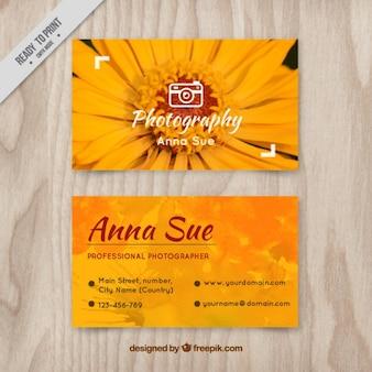Daisy photography card