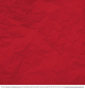 Damaged crumpled red background