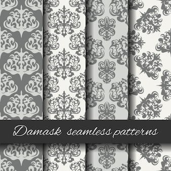 Damask seamless pattern collection
