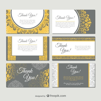 Damask style business card templates