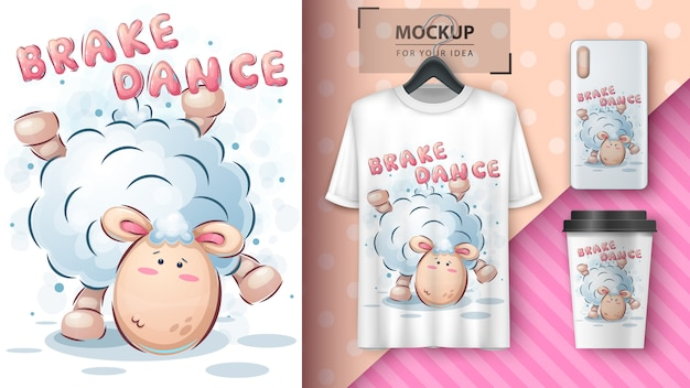 Dance lamb - poster and merchandising