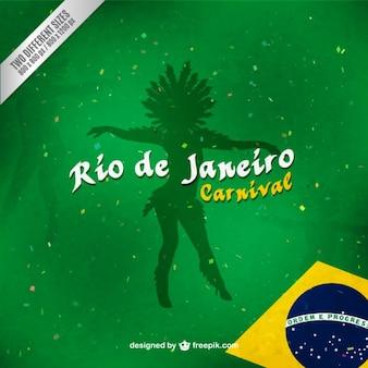 Dancer shadow Brazil carnival background