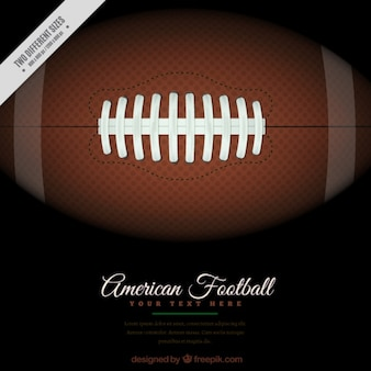 Dark american football background with ball in realistic style