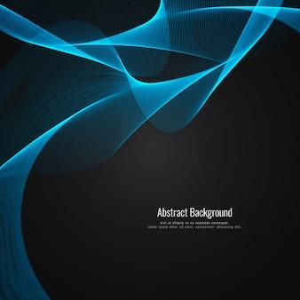 Dark and blue wavy background design