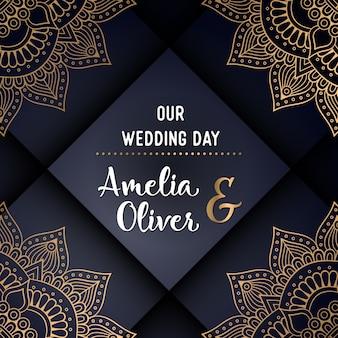 Dark and golden ethnic wedding design