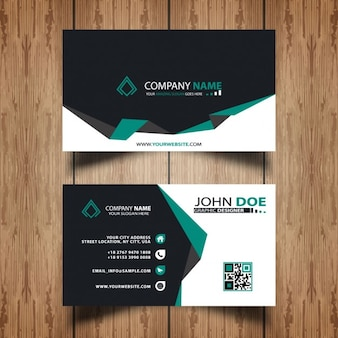 Dark and green visit card