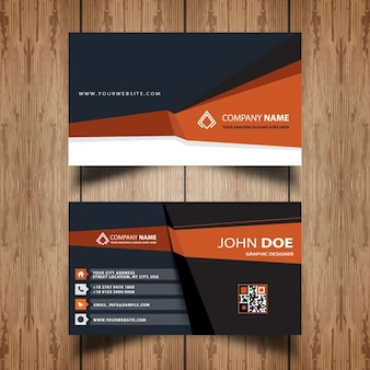 Dark and orange business card