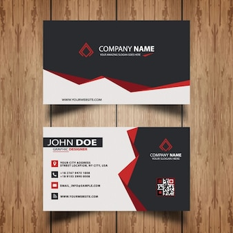 Dark and red visit card
