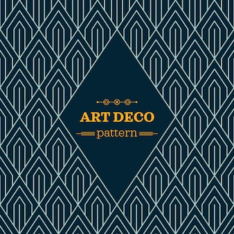 Dark art deco pattern