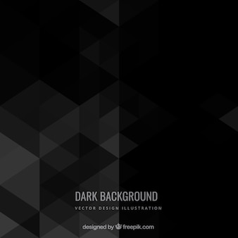 Dark background in geometric style