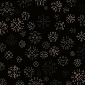 Dark background of christmas snowflakes