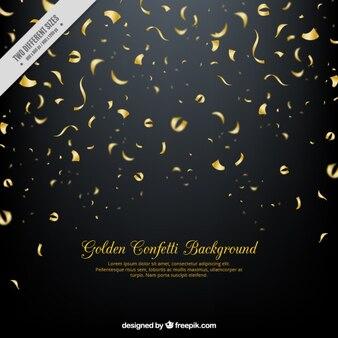Dark background of golden streamer