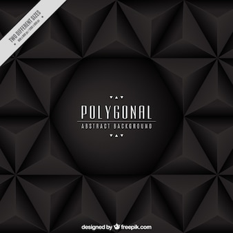 Dark background of polygonal shapes
