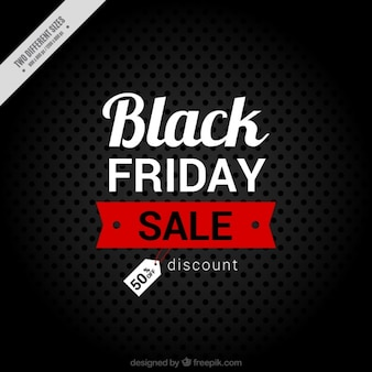 Dark background with dots for black friday