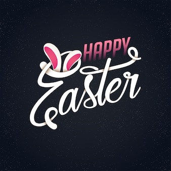 Dark background with pink details for easter day
